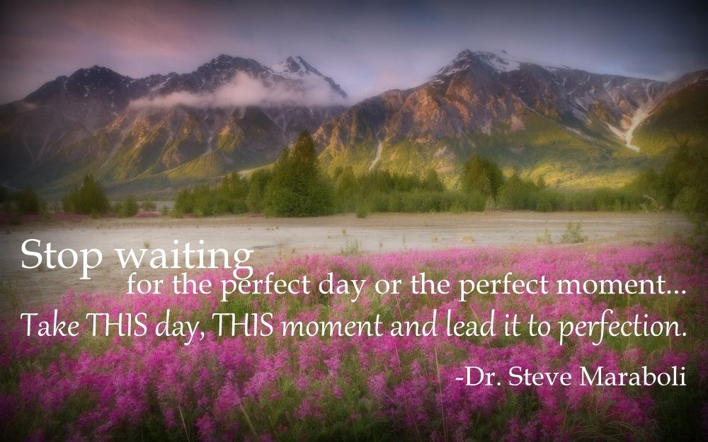 What would constitute a perfect day for you?