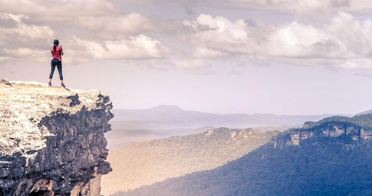 The precipice…